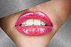ID 3037386 | Piękne kobiece usta | Foto stockowe wysokiej rozdzielczości | KLIPARTO