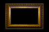 Marco de imagen de oro   Foto de stock