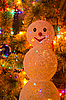 Photo 300 DPI: Christmas fir-tree with snowman