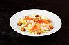 Photo 300 DPI: tiger shrimps salad