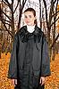 Photo 300 DPI: woman in rain coat