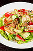 Photo 300 DPI: Salad of smoked eel