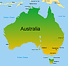 Vector clipart: map of australian continent