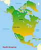 Vector clipart: map of north america continent