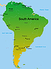 Векторный клипарт: карта континента Южной Америки