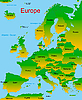 Vector clipart: map of european continent