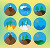 Vector clipart: landscape icon set