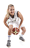 Photo 300 DPI: Active female basketball player