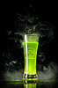 Green radioactive alcohol with biohazard symbol | Stock Foto