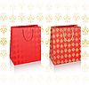 Vector clipart: red royal shopping bags