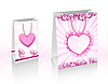 Vector clipart: pink shopping bags with hearts