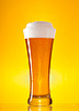 Full glass of beer with froth  | Stock Foto
