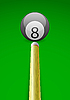 Vector clipart: billiard ball with stick