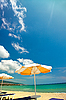 Orange umbrellas and chairs  | Stock Foto