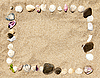 ID 3020496   Sea shells and stones frame    High resolution stock photo   CLIPARTO