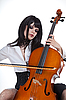 ID 3020518 | Romantic girl playing cello  | High resolution stock photo | CLIPARTO
