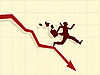Vector clipart: concept of financial crisis