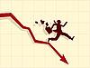 Векторный клипарт: концепция финансовый кризис
