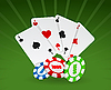 Vector clipart: playing cards and chips