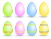 Vector clipart: Set of eggs