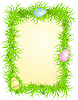 frame with eggs in grass