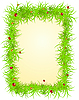 Vector clipart: spring frame with ladybugs