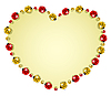 Vector clipart: ladybugs forming heart