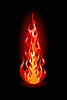 Vector clipart: flame on black