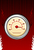 Vector clipart: speedometer with fires