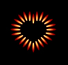 Vector clipart: gas stove with red flames