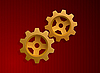 Golden gears | Stock Vector Graphics