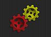 彩色齿轮 | 向量插图