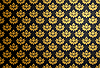 Vector clipart: Black and gold glamour pattern