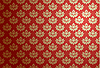 Vector clipart: Gold and red glamour pattern