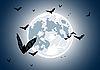 Realistic moon with bats | Stock Vector Graphics