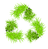 Vector clipart: recycle symbol