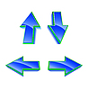 Vector clipart: Set of 4 blue glossy arrows