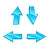 Vector clipart: Set of 4 ice arrows