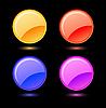 Vector clipart: Set of glossy circles