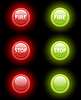 Vector clipart: fire and stop buttons