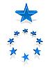 Vector clipart: Blue stars