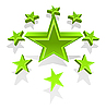 Vector clipart: green stars