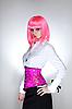 Фото 300 DPI: Симпатичная девушка в розовом восточном корсете