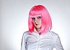 Attractive woman with pink hair | Stock Foto