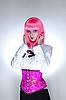 젊은 놀된 여자 동양 코르셋을 입고 | Stock Foto