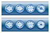 Vector clipart: Set of web buttons