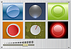 Vector clipart: buttons pack