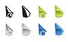 Vector clipart: Set of cursors