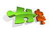 Vector clipart: two puzzle pieces