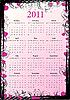 Векторный клипарт: гранж-календарь 2011 с сердечками